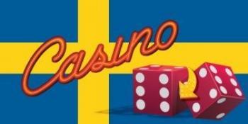 svensk flagga, casino, två tärningar